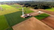 Windrad Baustelle aus der Luft video