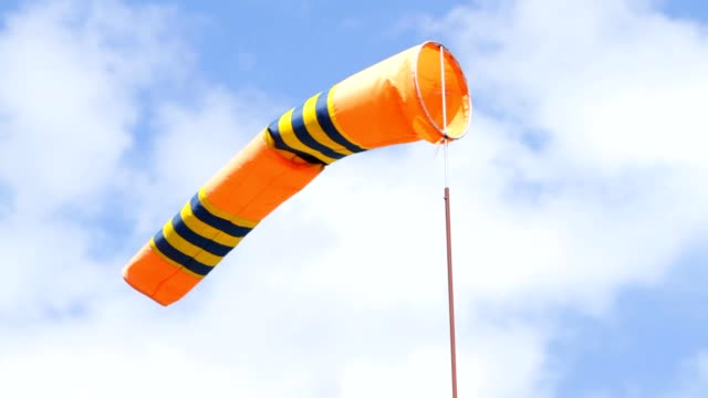 Windsock in airport video