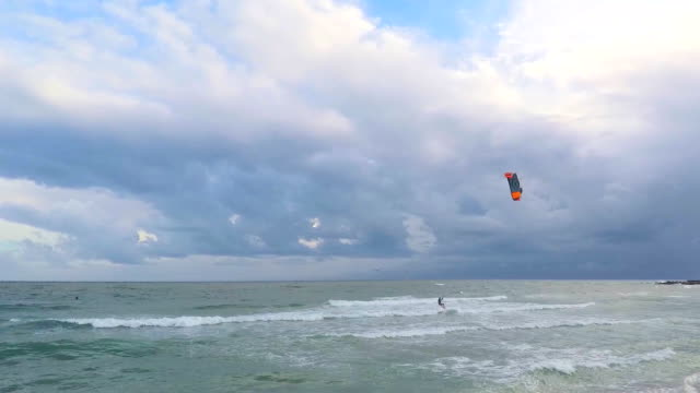 Windsurf On an Overcast Day video