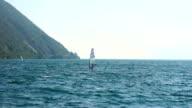 Windsurfer in action, Lake Garda, Italy video