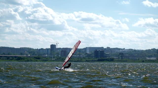 Windsurfer on the lake video
