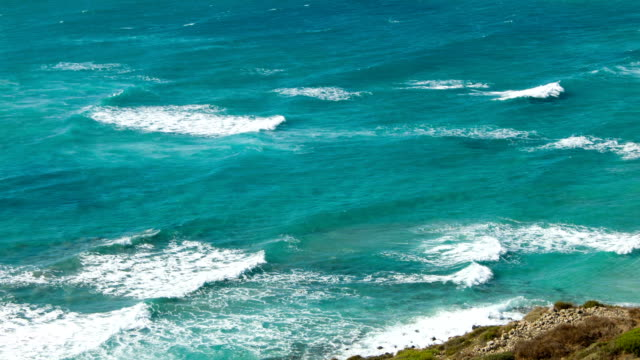 Windy Sardinian coast video