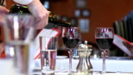 Wine Pour then Toast at Restaurant video