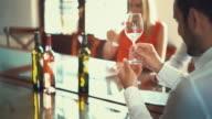 Wine tasting, 4k. video