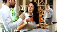 Wine tasting. video
