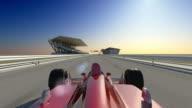 Winner Formula 1 Racing Car video