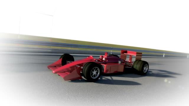 Winner Formula 1 Racing Car With Copyspace video