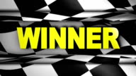 Winner Text in Checker - HD1080 video