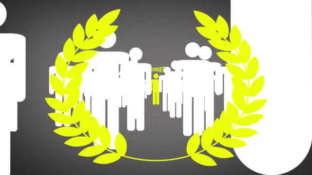 Winner, yellow laurels video