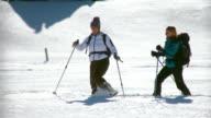 HD: Winter Activity-Snowshoeing video