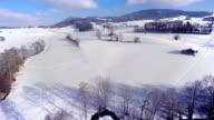 4K Winter aerial video