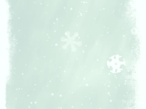 winter background with snowflakes - NTSC video