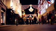 Winter Christmas Shopping Crowds in Dublin, Ireland video