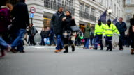 Winter Christmas Shopping Crowds in London, England video