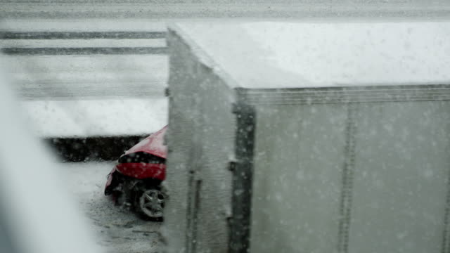 Winter Driving in Blizzard video