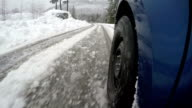 Winter driving on a slippery road video