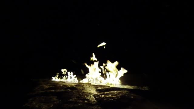 Winter fire pit video