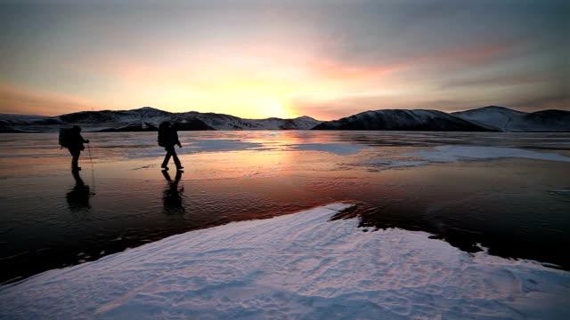 Winter hiking video
