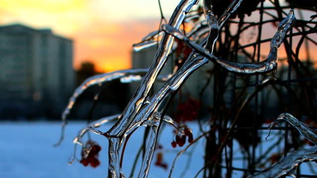 Winter Icicle Sunrise Sunset Winter Timelapse video