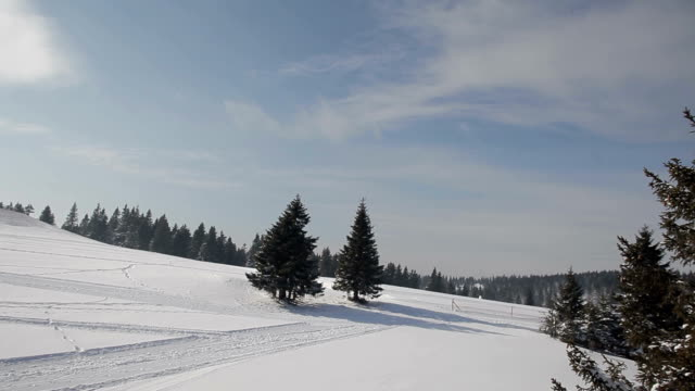 Winter in ski resort video