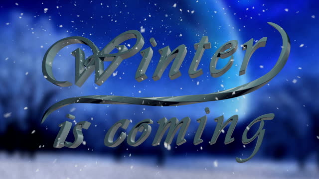 Winter is Coming title freezing HD video