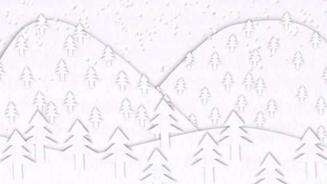 Winter Landscape Animation video