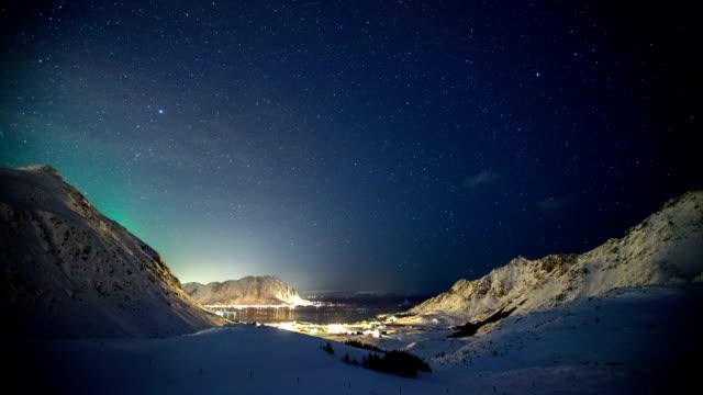 TIME LAPSE: Winter Landscape Aurora video