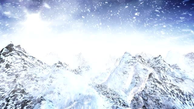 Winter landscape (tracking shot, day) - Loop video