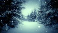 Winter landscape (loopable) video