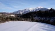 AERIAL: Winter landscape video