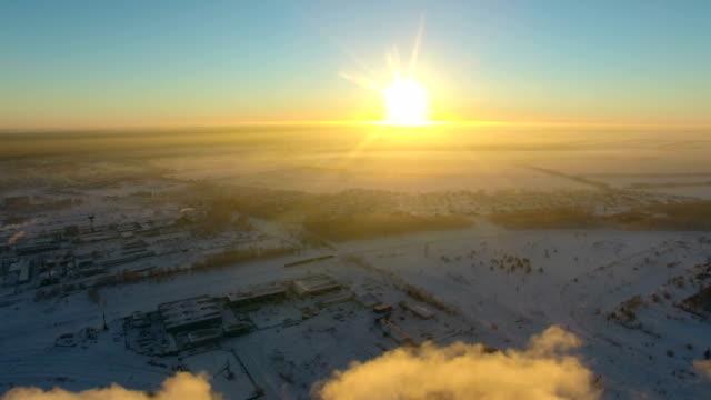 winter landscape,sunset. video