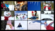 Winter lifestyle, video montage video