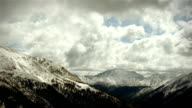 Winter Mountains Wilderness Time-lapse Snow Storm Loop video