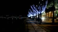winter night video
