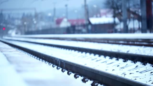 Winter railroad video