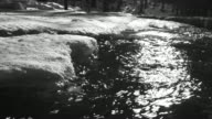 HD Winter River in the Backlight (B&W) (4:2:2@100 Mb/s) video