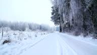Winter road in HD video