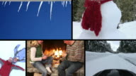 Winter scenes, video montage video