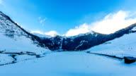 Winter ski resort Hintertux, Tirol, Austria, timelapse video