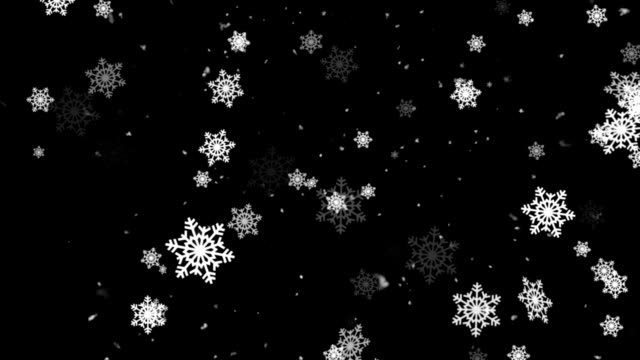 Winter Snow and Snow Flakes 1 Loopable Background video