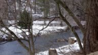 Winter snow river video