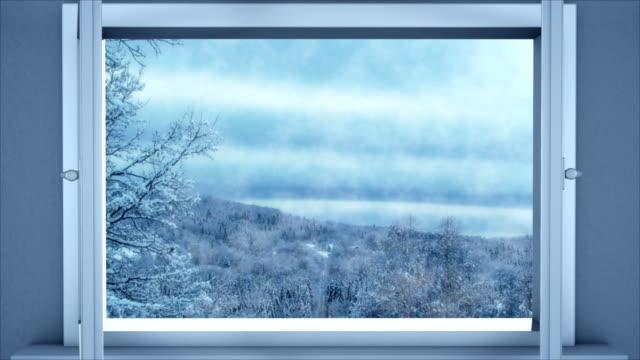 Offenes fenster im winter  Fenster - Videos und B-Roll Material - iStock