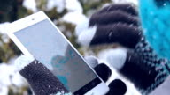 winter touch screen gloves telephone video
