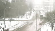 Winter Traffic Timelapse Still video