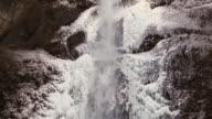 Winter waterfall video