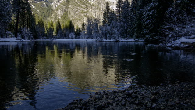 Winter Yosemite Valley Pan and Tilt Time Lapse video