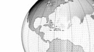 wire frame world globe video