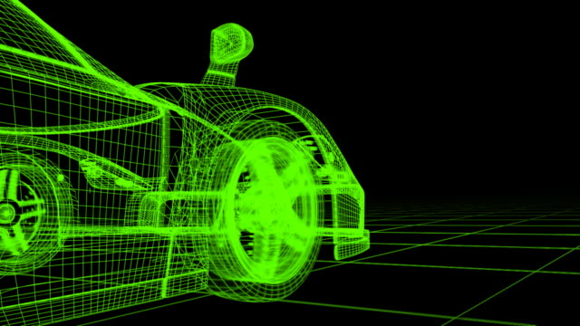 (HD720) WireFrame CAR video