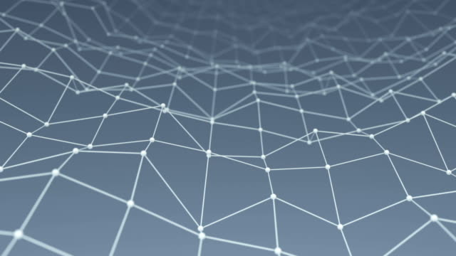 Wireframe network shape vibrate loop background video