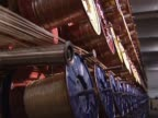Wires for tyre on conveyor line video